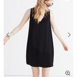 Madewell Heather Button-Front Dress True Black